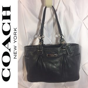 Coach Gallery Leather East West Tote Black